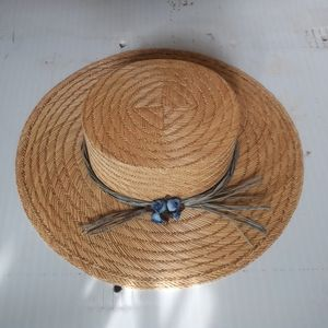 Omish inspired wide brimmed pill box hat